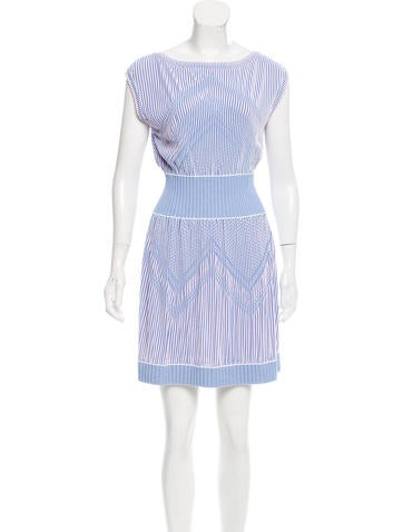 Chanel Striped Mini Dress None