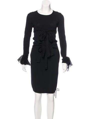 Chanel Silk-Trimmed Knit Skirt Set None