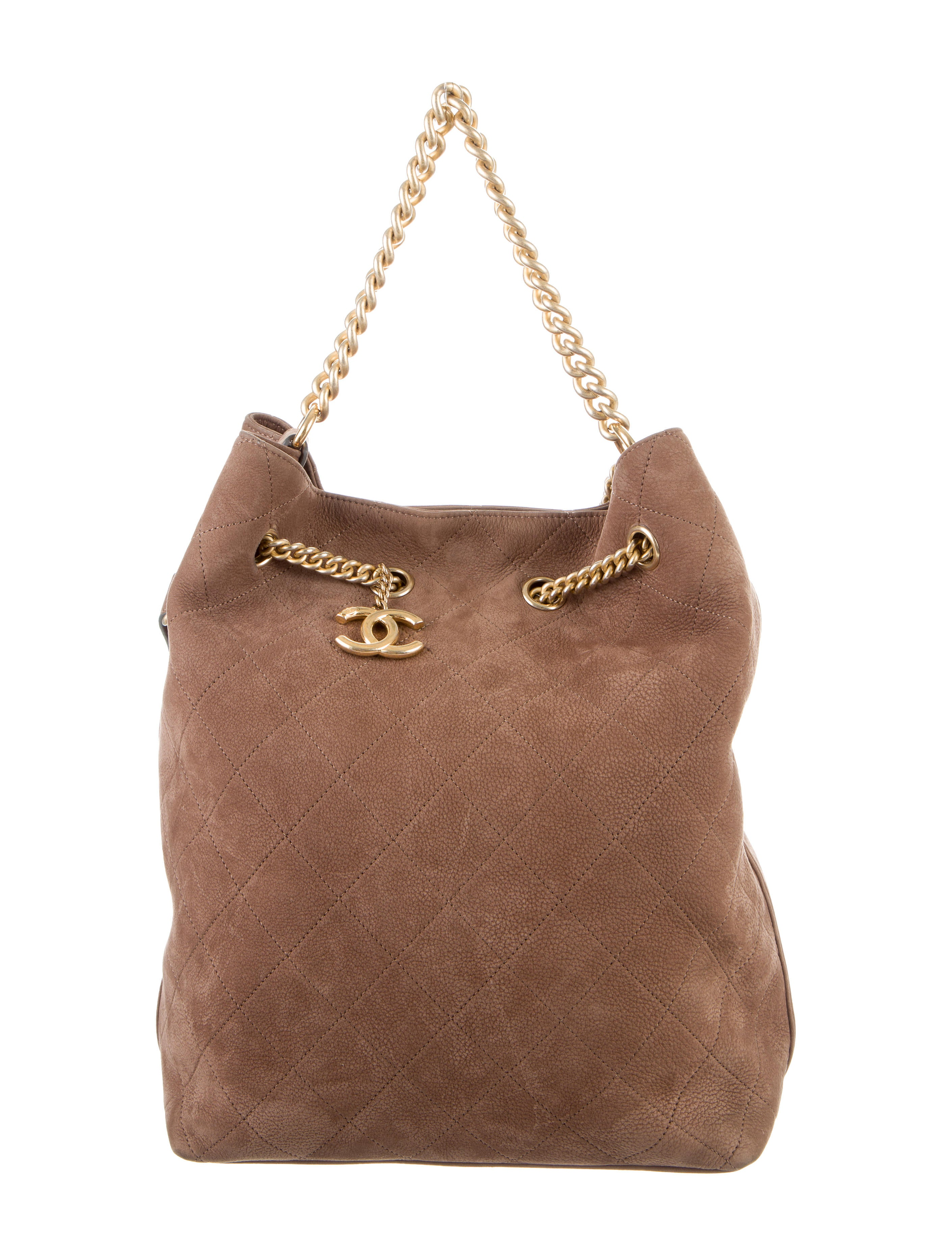 3170c39cabe4 Chanel 2016 Large On My Shoulder Drawstring Bag - Handbags - CHA190292 | The  RealReal