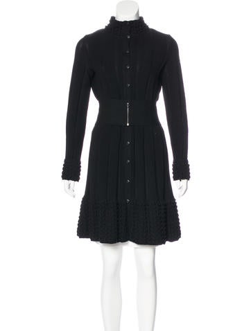 Chanel Belted Knit Dress None