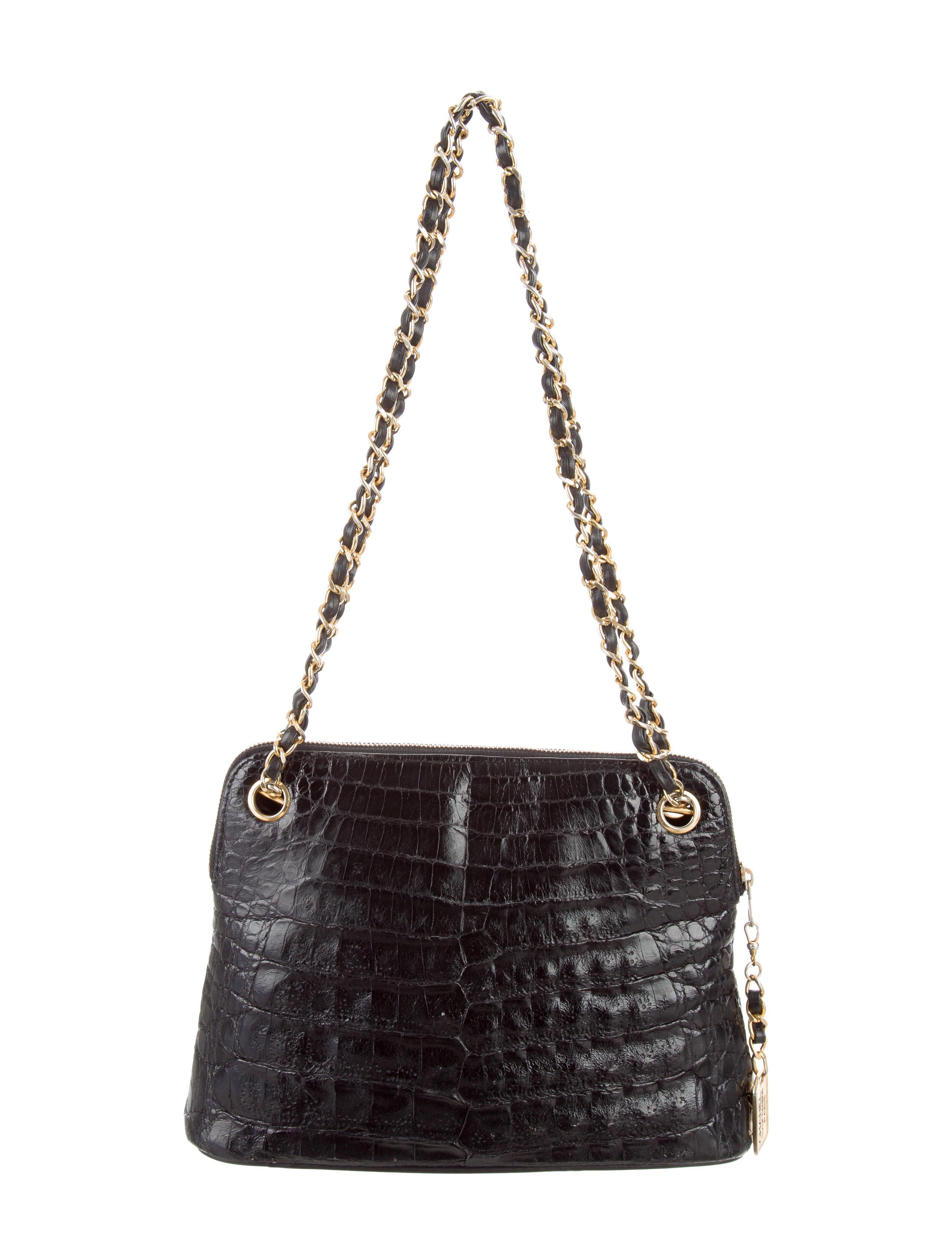 chanel crocodile shoulder bag handbags cha190517 the