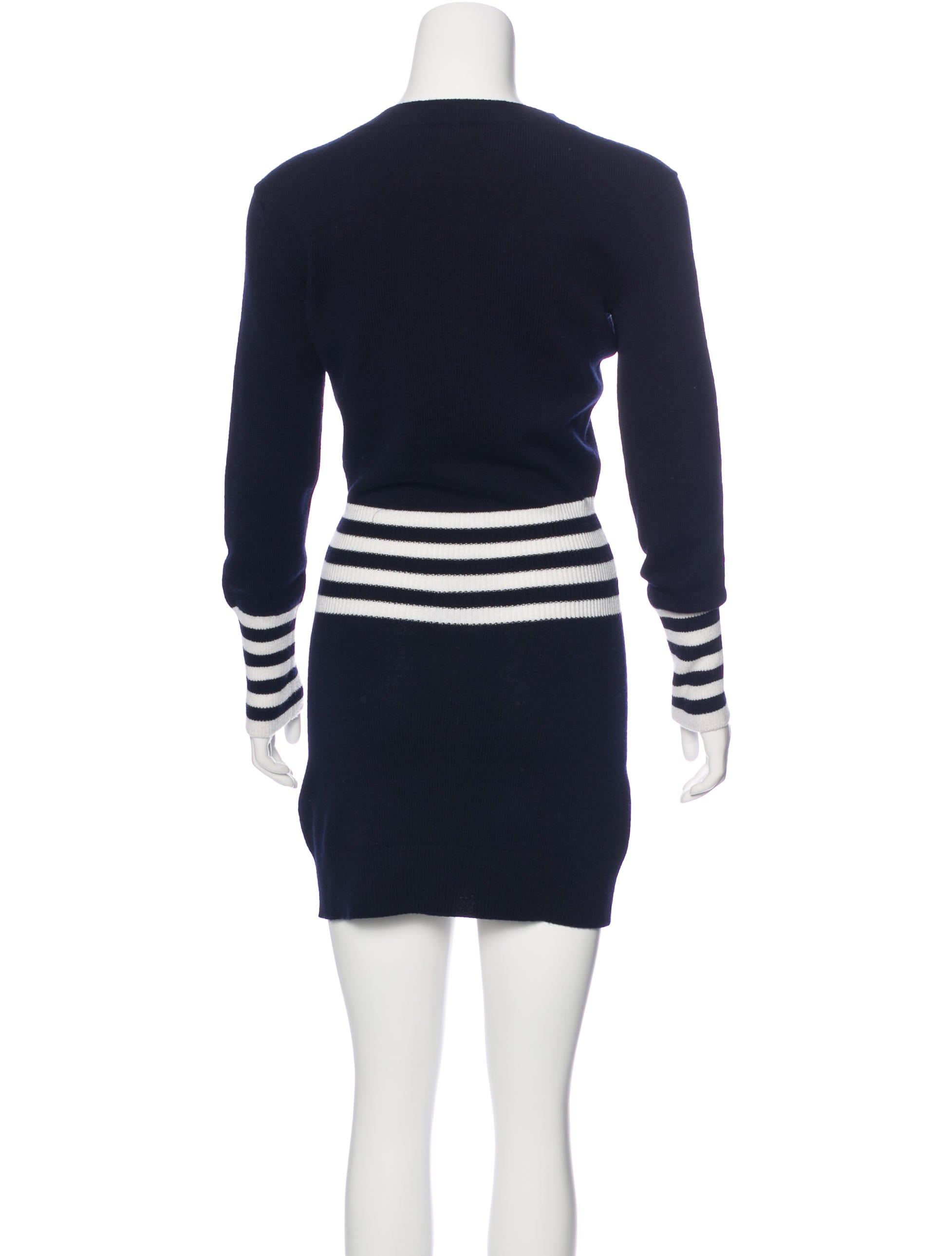 Knitting Wear 2016 : Chanel stripe knit dress clothing cha the
