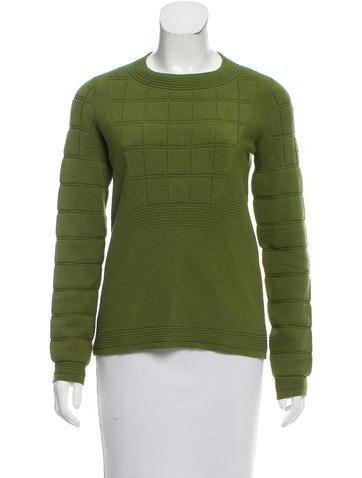 Chanel Matelassé Crew Neck Sweater None