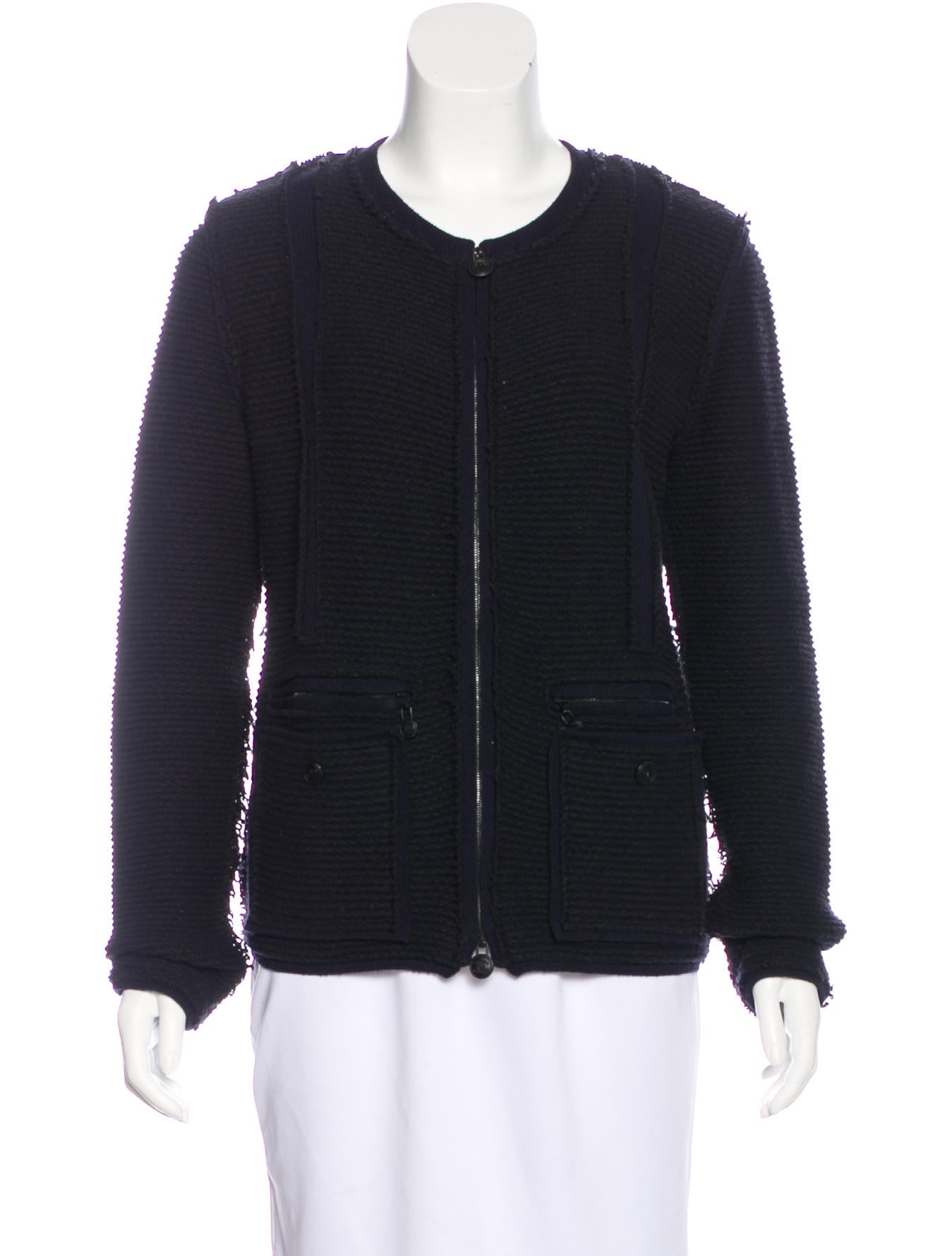 Chanel Wool Zip Cardigan - Clothing - CHA190742 | The RealReal
