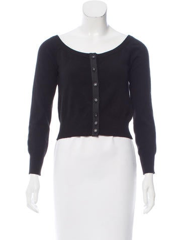 Chanel Cashmere Cropped Cardigan None