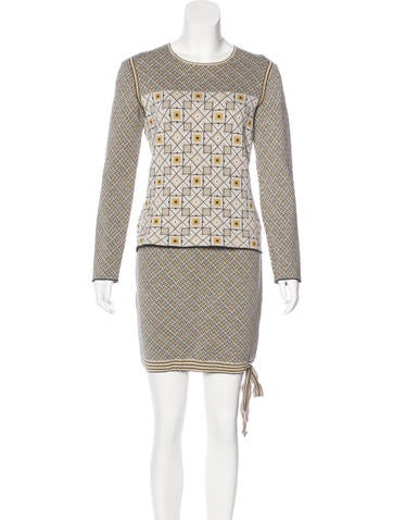 Chanel Wool Knit Skirt Set None