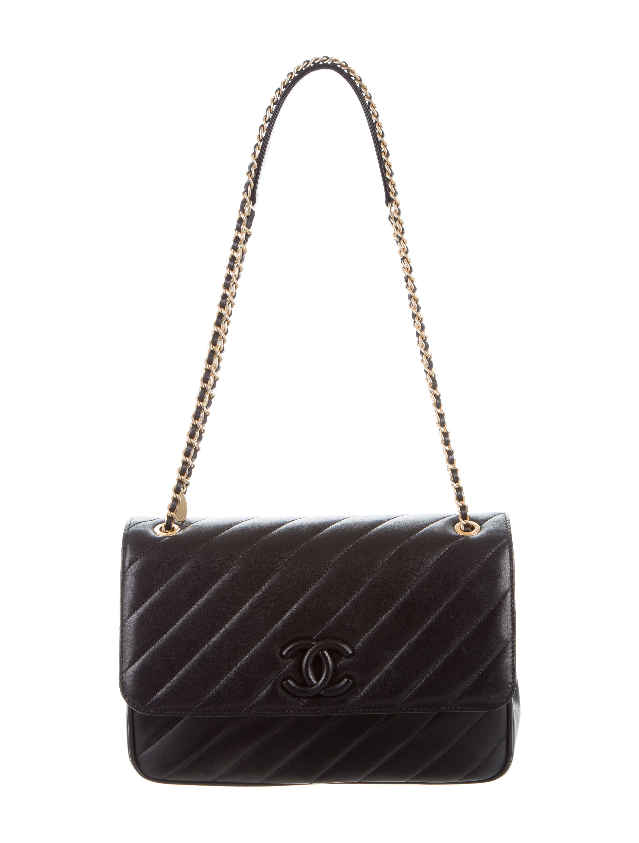 Chanel 2015 Leather Covered Cc Signature Flap Bag