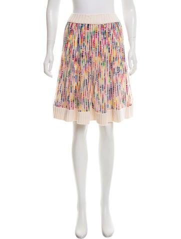 Chanel Printed Silk Skirt None