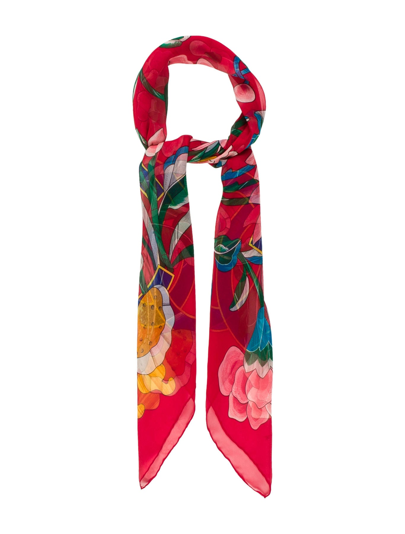 Chanel Camellia Silk Scarf - Accessories - CHA191397 | The ...