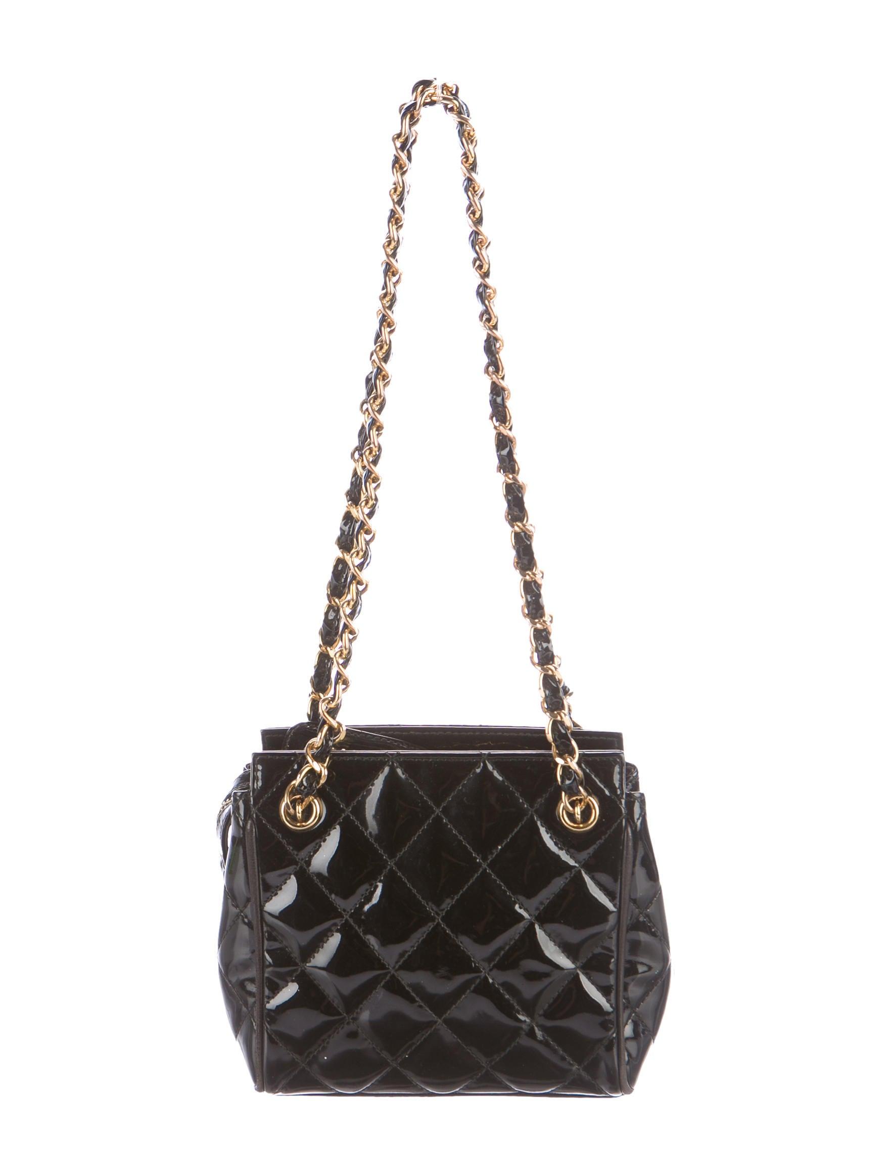 Chanel Patent Vintage Quilted Mini Shoulder Bag Handbags