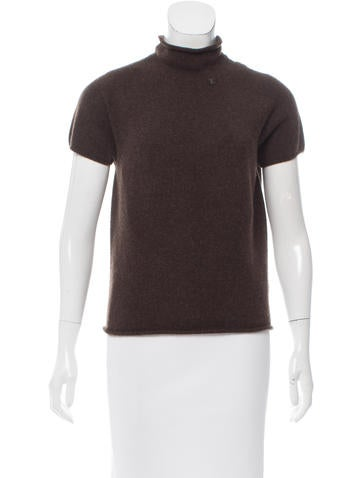 Chanel Cashmere Mock Collar Sweater None