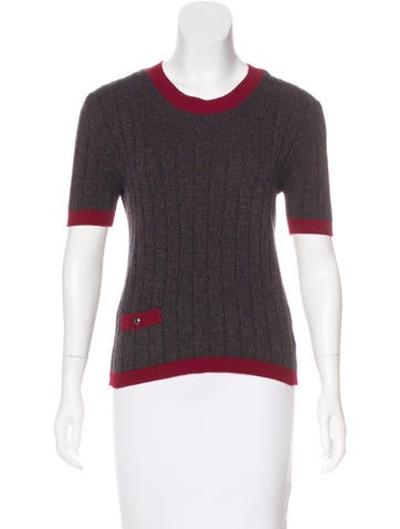 Chanel Vintage Cashmere Top None