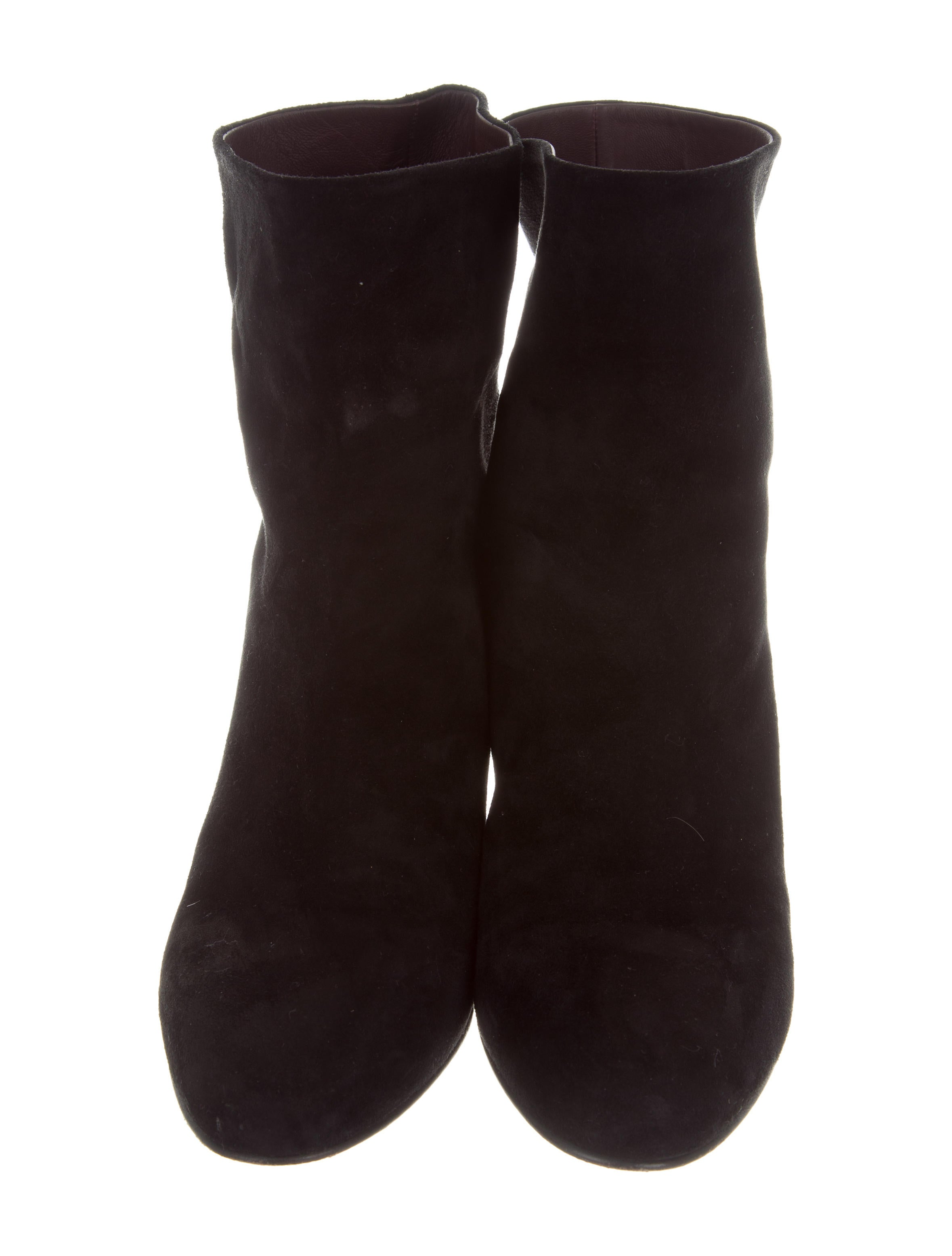 chanel suede ankle boots shoes cha192560 the realreal