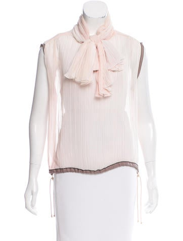 Chanel Silk Sheer Top None