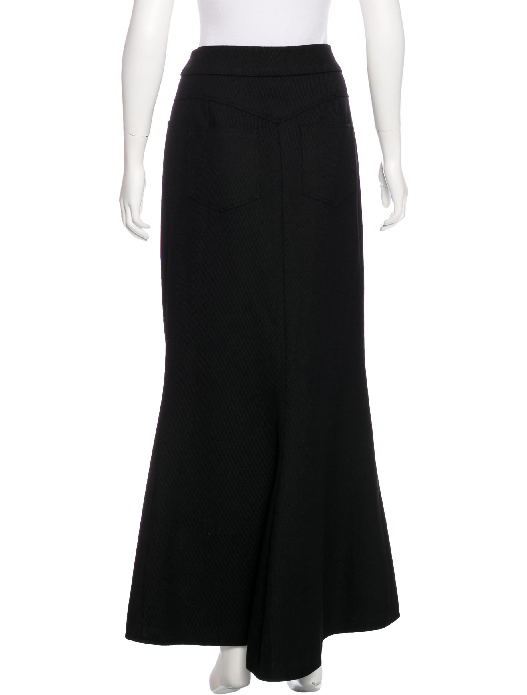chanel wool maxi skirt clothing cha193608 the realreal