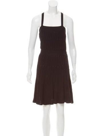 Chanel Matelassé Open Knit Dress None