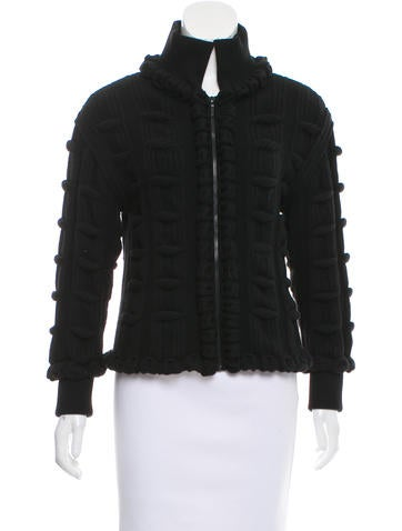 Chanel Wool Textured Cardigan w/ Tags None