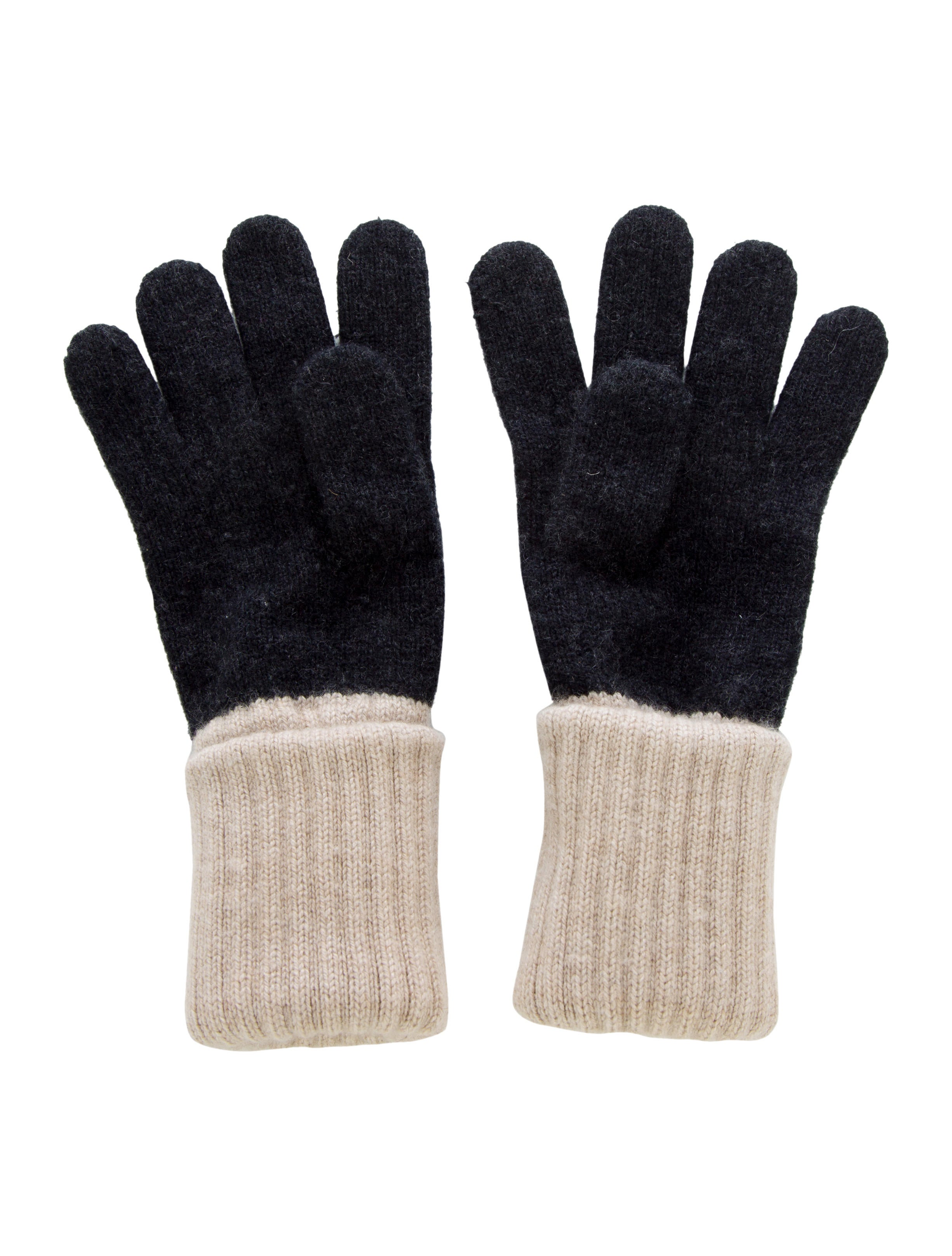 Chanel CC Cashmere Long Gloves - Accessories - CHA193941 ...