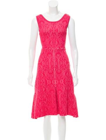 Chanel Midi Matelassé Dress None