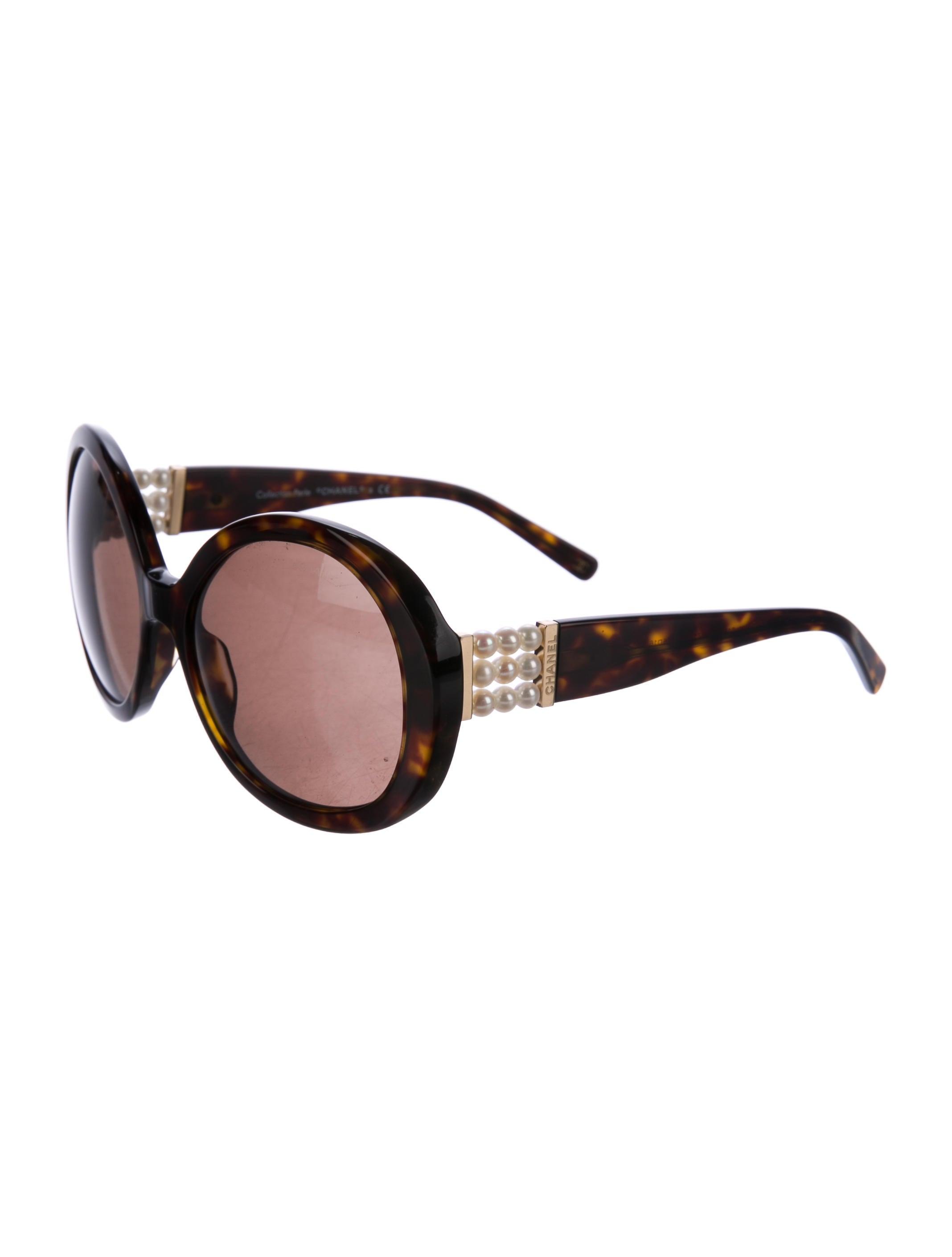 cb6f497f38a Chanel Round Perle Sunglasses - Accessories - CHA194724