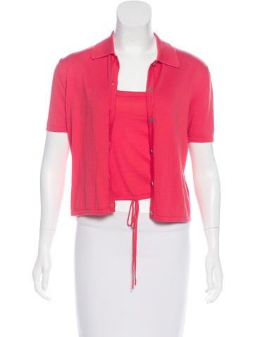 Chanel Knit Cardigan Set None