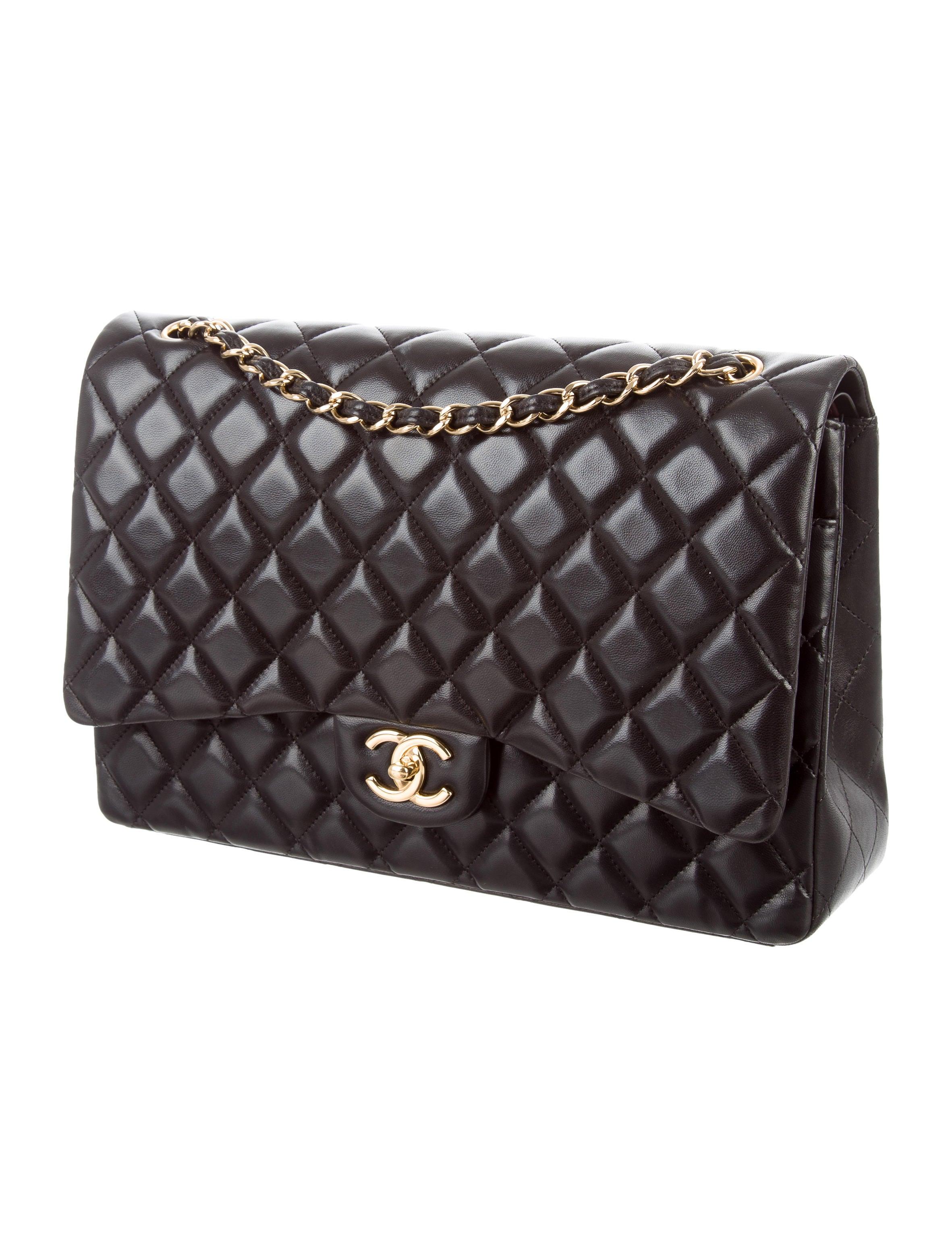 fab6249ffac921 Chanel Classic Flap Quilted Handbags. Chanel Quilted Classic Maxi Single  Flap Bag ...