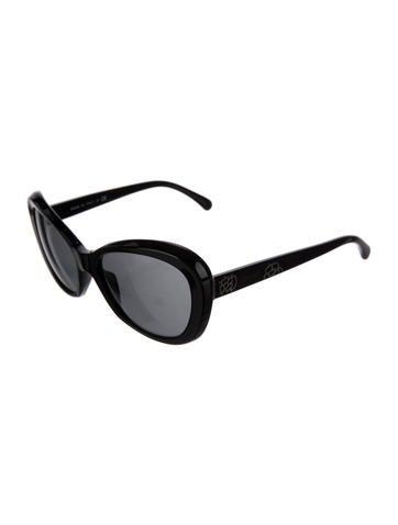 Chanel Camellia Cat-Eye Sunglasses - Accessories - CHA195880 | The ...