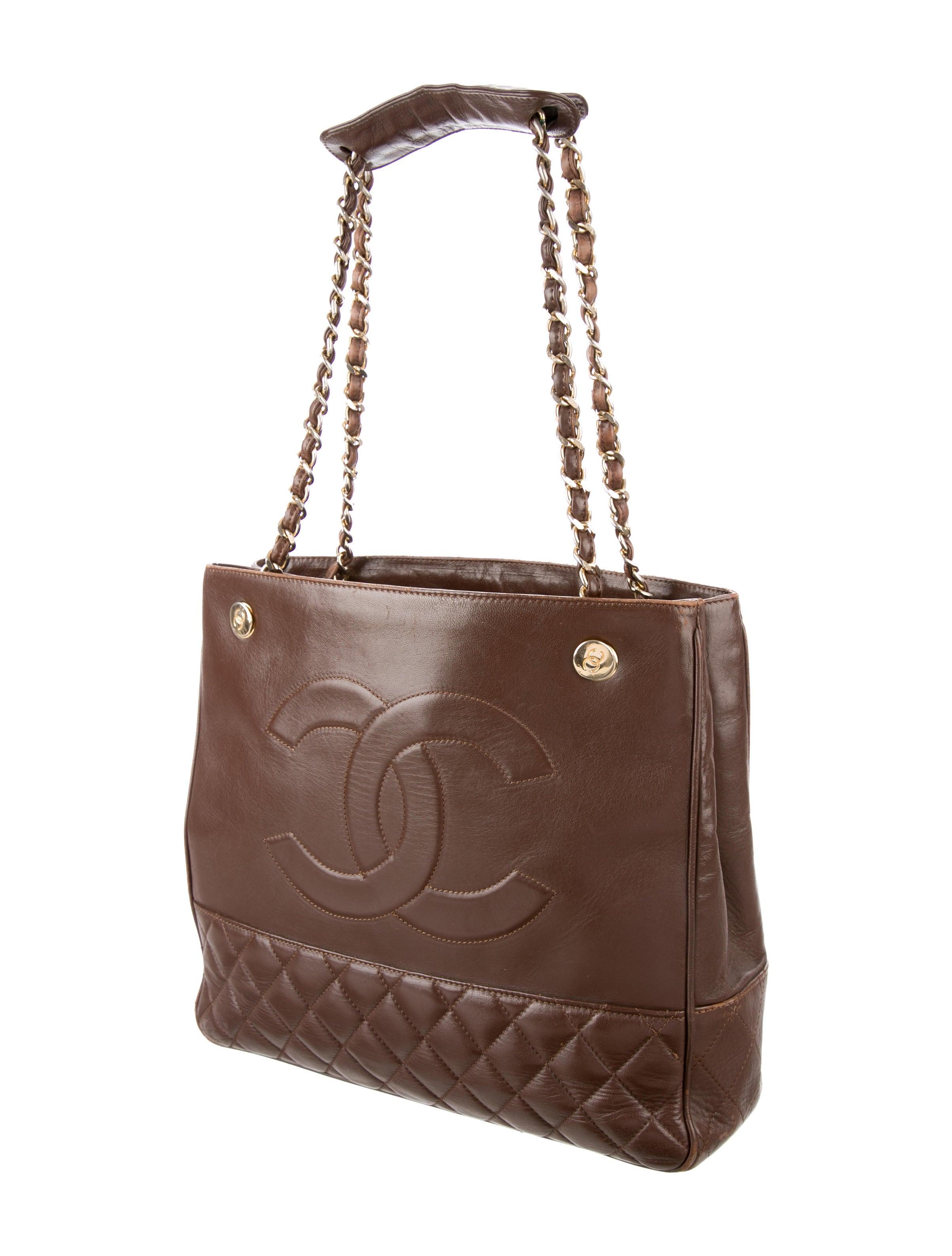 Chanel Lambskin Vintage Timeless Tote - Handbags ...