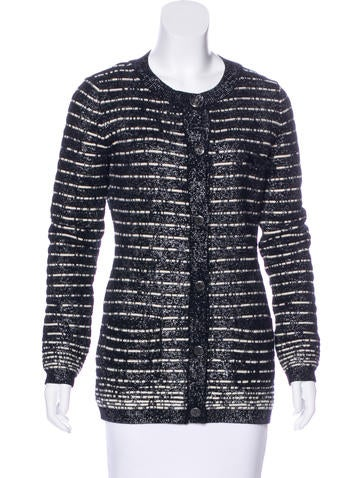 Chanel Wool Embellished Cardigan None