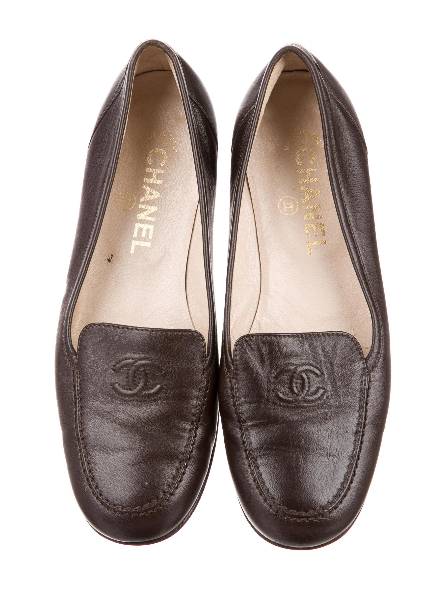 Chanel Leather CC Loafers - Shoes - CHA196310 | The RealReal