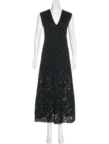 Chanel Paris-Edinburgh Metallic Dress None