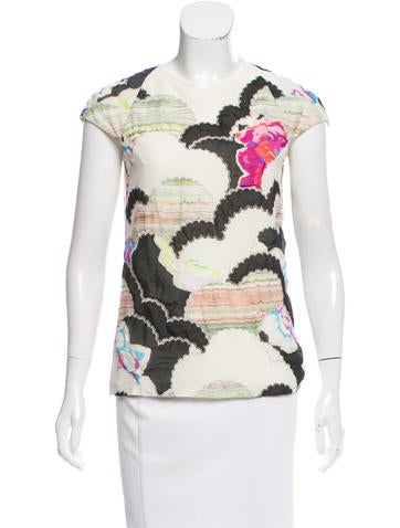 Chanel Silk Abstract Top None
