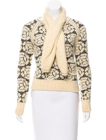 Chanel Patterned Wool Sweater None