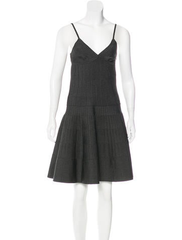 Chanel 2015 Metallic Knit Dress w/ Tags None