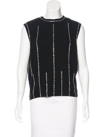 Chanel Cashmere Embellished Top w/ Tags None