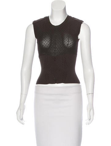 Chanel Pointelle Lace Top None