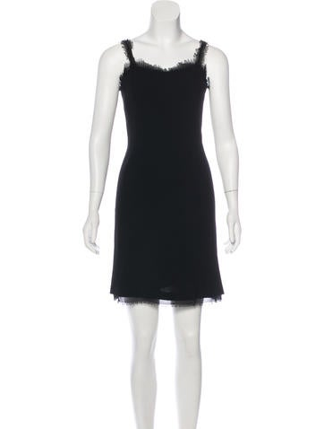 Chanel Sleeveless Wool Dress None