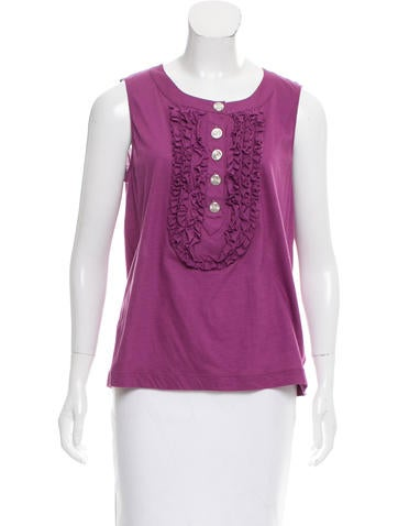 Chanel Ruffled Sleeveless Top w/ Tags None