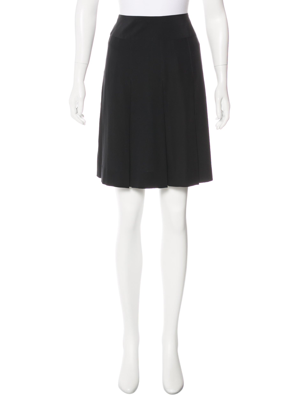 chanel pleated knee length skirt clothing cha197491
