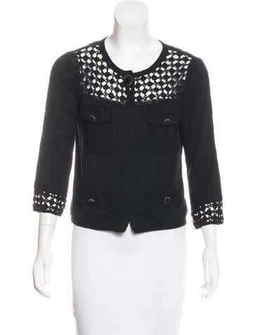 Chanel Open Knit Cardigan None