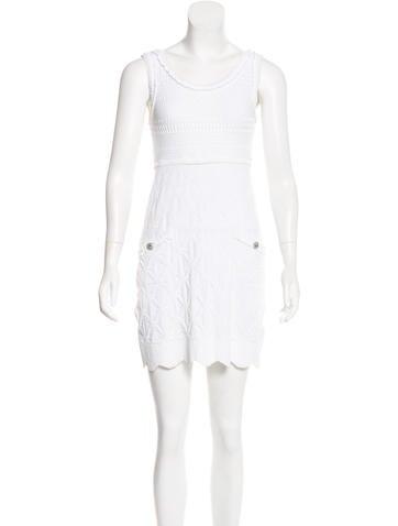 Chanel Sleeveless Open Knit Dress None
