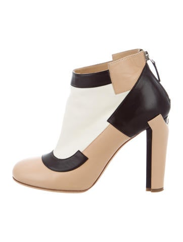 Chanel Round-Toe Ankle Boots None