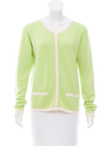 Chanel Two-Tone Lightweight Cardigan None