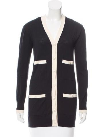 Chanel Longline Wool Cardigan None