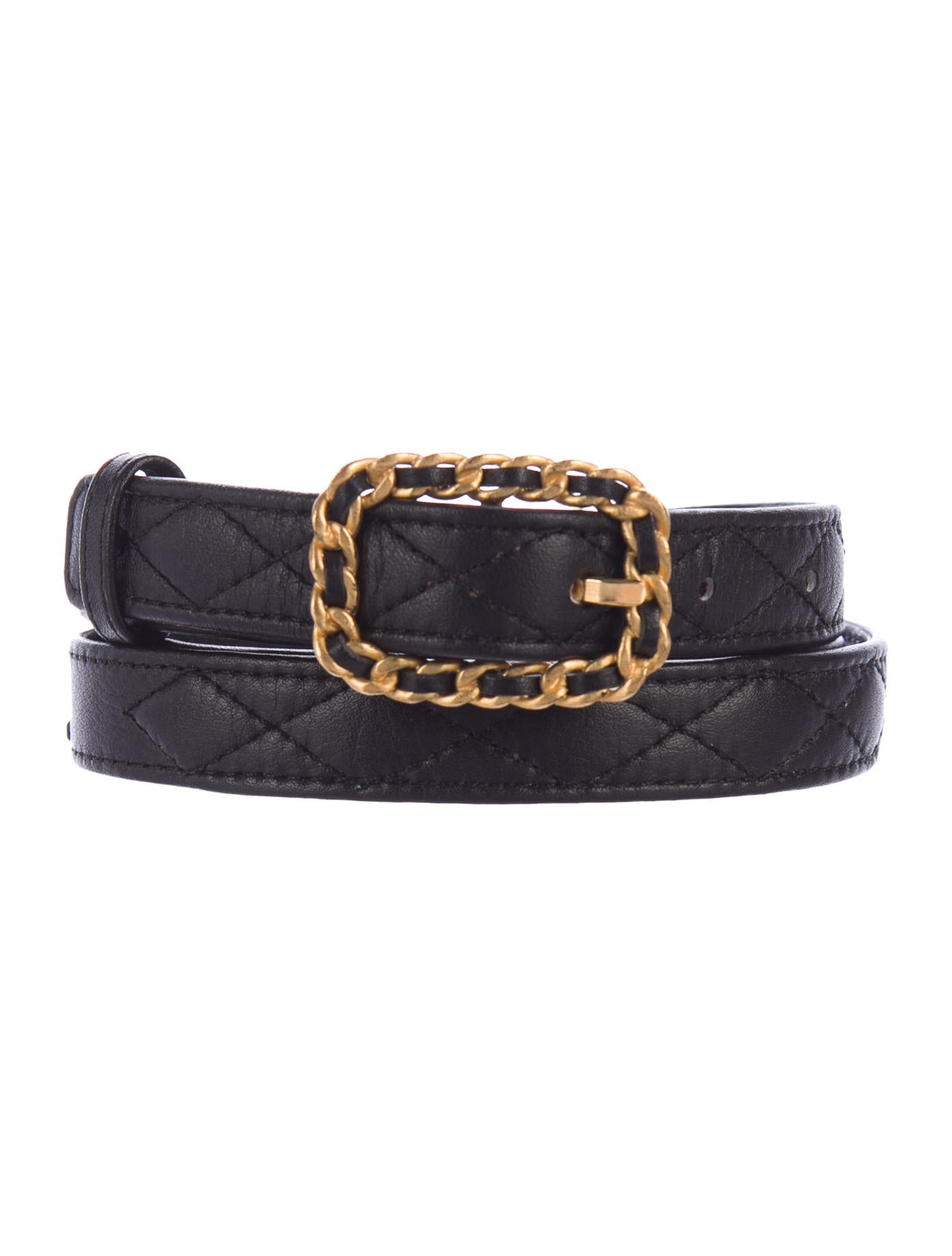 Chanel Quilted Leather Belt - Accessories - CHA198502 ...