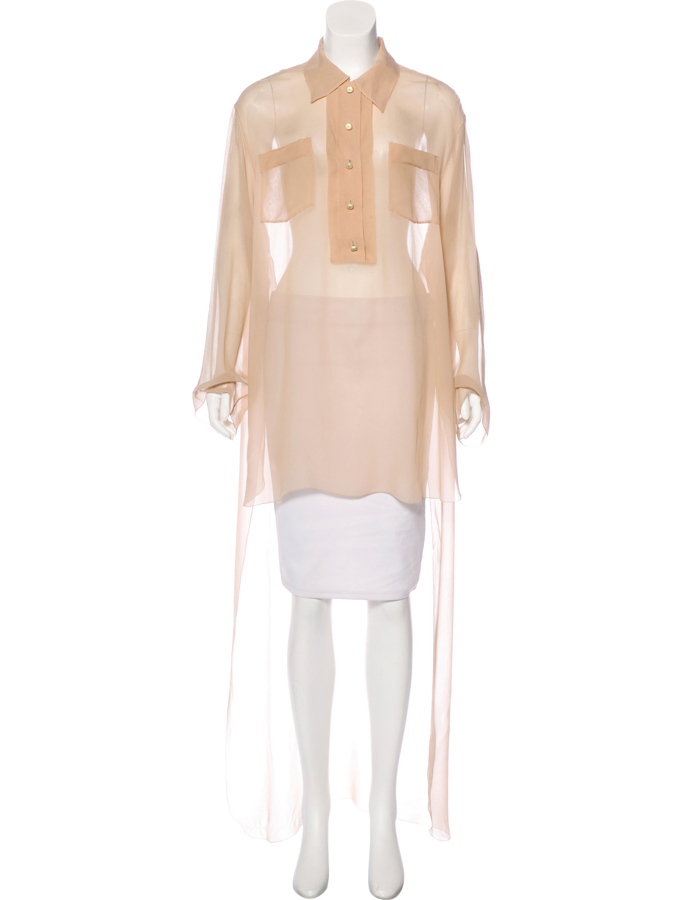chanel vintage silk blouse clothing cha198612 the