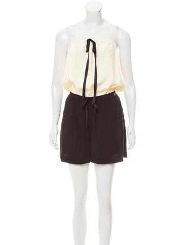 Chanel Strapless Knit Romper None