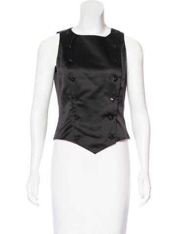 Chanel Silk Double-Breasted Top None