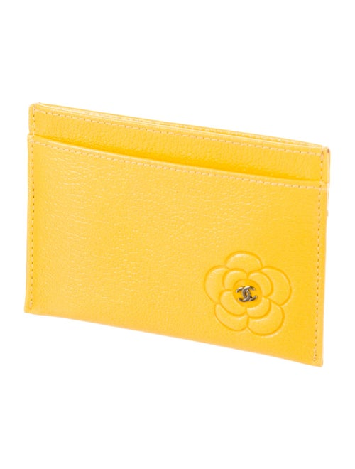 Chanel Camellia CC Card Holder w/ Tags - Accessories ...