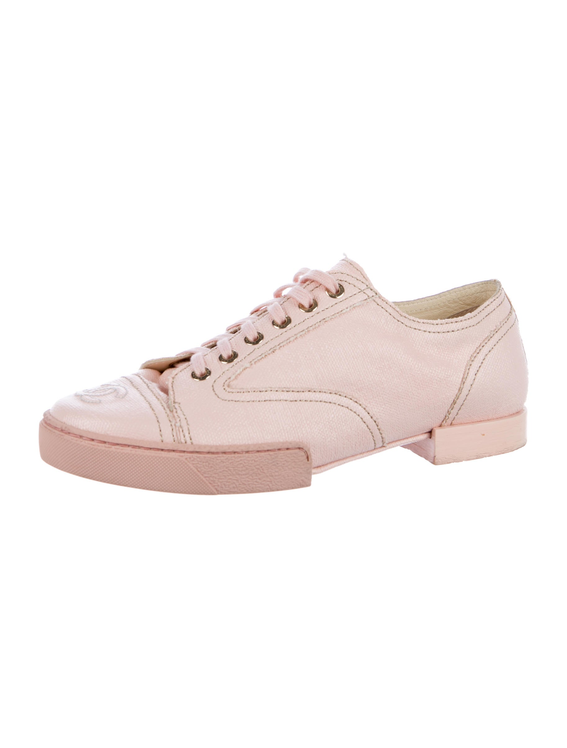 chanel cc canvas oxfords shoes cha198926 the realreal